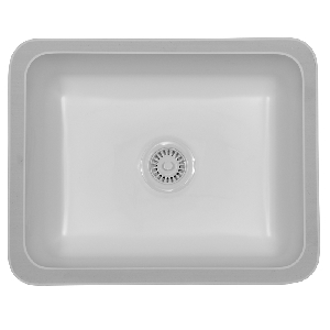 "Karran MADB, Madrid 22-3/4"" x 18-1/8"" Acrylic Kitchen Sinks, Undermount Single Bowl, Bisque"