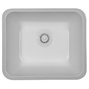 "Karran MONTW, Monterey 20-7/8"" x 17"" Acrylic Laundry Sinks, Undermount Single Bowl, White"