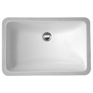 "Karran SHEFW, Sheffield 21"" x 14"" Acrylic Single Bowl Sink, Undermount Vanity Bowl White, ADA"