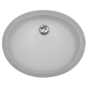 "Karran YORW, York 18-1/2"" x 15"" Acrylic Vanity Sinks, Undermount Single Bowl, White"