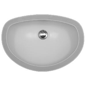 "Karran WINDW Windsor 18-3/4"" x 12-7/8"" Acrylic Vanity Sinks, Undermount Single Bowl, White, ADA"
