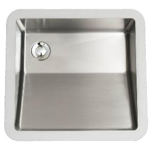 """18"""" Seamless Undermount Stainless Steel Vanity Sink Karran E-505-D"""