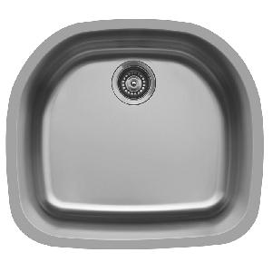 "Karran E330, Edge 32-1/2"" x 21-1/2"" Undermount D-Shaped Kitchen Sink"