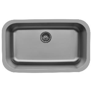 "31"" Seamless Undermount Large Single Bowl Stainless Steel Kitchen Sink Karran E-340"