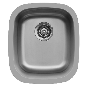"Karran E315, Edge 16"" x 18-1/4"" Undermount Bar/ Prep Sink, Single Bowl"