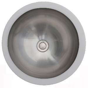"Karran E305, Edge 15-1/4"" x 15-1/4"" Undermount Vanity Bowl, ADA"