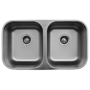 "32"" Undermount Double Equal Bowl Stainless Steel Kitchen Sink Karran U-5050"