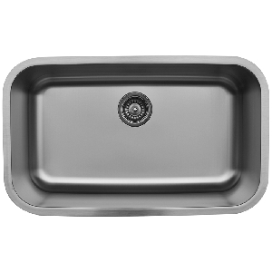 "Karran U3018, 30-1/2"" x 18-3/8"" Undermount Bar/ Prep Sink, Single Bowl, Stainless Steel"
