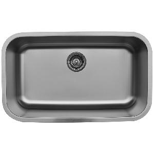 "31"" Undermount Large Single Bowl Stainless Steel Kitchen Sink Karran U-3018"