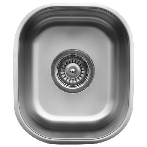 "Karran U1113, 11-1/2"" x 13-1/2"" Undermount Bar/ Prep Sink, Single Bowl, Stainless Steel"