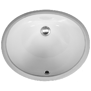 "Karran VC101WH, 17"" x 14"" Vitreous China Vanity Sinks Undermount Sink Single Bowl, White, ADA"
