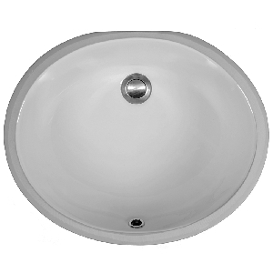 "Karran VC102WH, 19-1/4"" x 15-3/4"" Vitreous China Vanity Sinks Undermount Single Bowl, White, ADA"