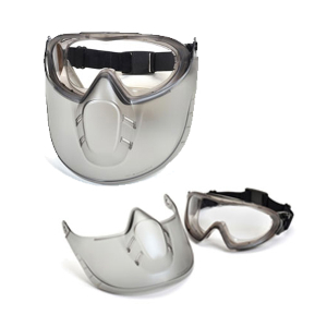 Barracuda OTG Clear Lens Anti-Fog Scratch-Resistant Eye and Face Protection