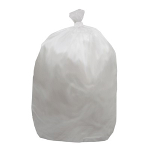 56 Gallon, Natural Trash Can Liners, High Density, 16 mic, 200 Bags, Northern Safety 209912 NL