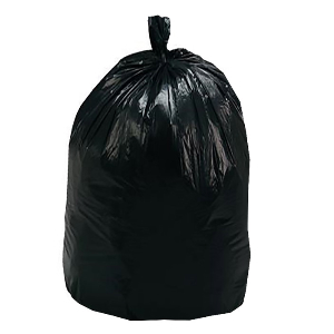 56 Gallon, Black Trash Can Liners, High Density, 1.25 mil, 100 Bags, Northern Safety 209915 BK