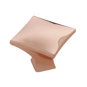 """1-1/4"""" Polished Copper Knob, Twist, Hickory Hardware H076014-CP"""