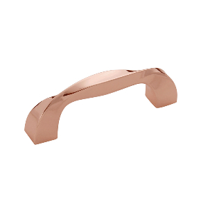 "3-5/8"" Polished Copper Pull, Twist, Hickory Hardware H076015-CP"