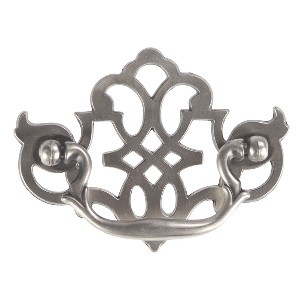 """4"""" Silver Stone Pull, Manor House, Hickory Hardware P329-ST"""