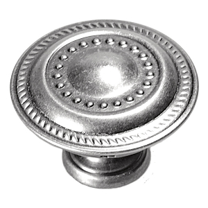 "1-1/4"" Silver Stone Knob, Manor House, Hickory Hardware P8196-ST"