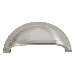 "3-7/16"" Satin Nickel Pull, Williamsburg, Hickory Hardware P3055-15"