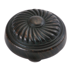 "1-1/4"" Vintage Bronze Knob, French Country, Hickory Hardware P7343-VB"