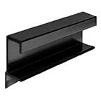 DP412-L Drawer Pull 6' Long Satin Black No Holes  Engineered Products (EPCO) DP412-L-BL