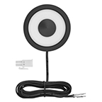 Tresco 2.5W Swing LED Puck Light, Cool White, Black, L-HSWNG-CBL-1