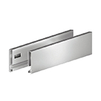 "Grass F135121303211, Vionaro H89 15""Drawer Side, Height 3-1/2"", Silver Gray"