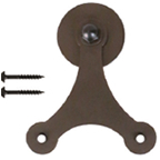 Barn Door Strap Triangle Hanger, Atlantis, Face Mount, Oil Rubbed Bronze, KV CO RT-CTS-BZ