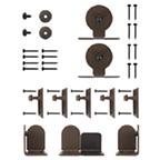 Barn Door Hardware Kit for Round Rails, Monte Carlo, KV CO RT-TMBZ-06