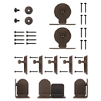 Barn Door Hardware Kit for Round Rails, Monte Carlo, KV CO RT-TMBK-06