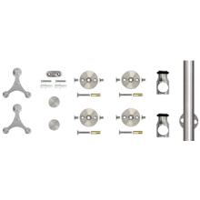 "78.75"" Barn Door Hardware Kit, Face Mount Strap Triangle Style Hangers, Round Rail, Stainless Steel, KV CO SS-FMST-65"