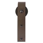 Barn Door Hanger, Salzburg, Face Mount, Strap Stick Style, Black, KV CO RT-CHK-BK