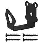 "Barn Door Hardware Universal Guide used with Short 1.875"" Bracket, Oil Rubbed Bronze, KV CO RT-UGS-BZ"