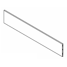 "Grass F136122619507, Vionaro H89 Inset Front Panel (Cut-to-length up to 45-11/16""), Silver Gray"