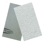 "SurfPrep 3-2/3""x7"" Film Abrasives Pad, 320 Grit, Aluminum Oxide, No Hole, Hook/Loop"