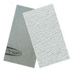 "SurfPrep 3-2/3""x7"" Film Abrasives Pad, 120 Grit, Aluminum Oxide, No Hole, Hook/Loop"
