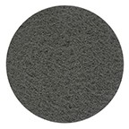 """SurfPrep 6"""" Non Woven Abrasives Disc, Gray, Silicon Carbide, Flocked Back, No Hole"""