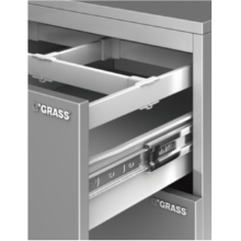 "Grass 30065-03, ZBox 6023 18-1/2"" Drawer Systems (Side/Slide), Height 3-3/8"", White"
