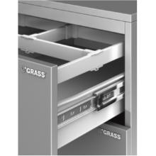 "ZBox 6423 13-3/4"" Drawer Slide/Side 8-3/8"" H White Grass 30144-03"