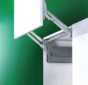 """Kinvaro L-80 Parallel Lifter for Cabinet Height 15-11/32"""" - 16-3/32"""" Grass F152145252201"""