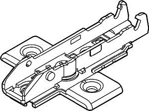 Grass F058139756228, Tiomos 0mm Wing Base Plate, Euro Screws