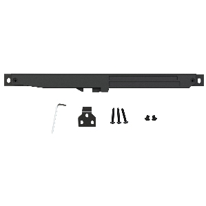 Barn Door Soft-Close Mechanism, Flat Rail, Oil Rubbed Bronze, WE Preferred 77253 53 108