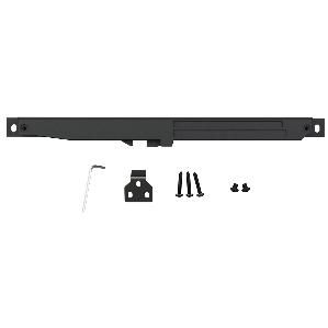 Barn Door Soft-Close Mechanism, Flat Rail, Black, WE Preferred 77253 51 100