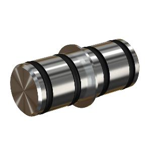 Barn Door Round Rail Connector, Stainless Steel, WE Preferred 77159 56 107