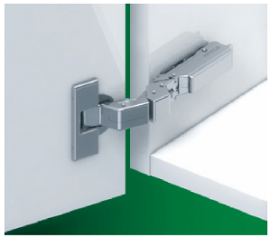 Grass F029140338217, 110 Degree Tiomos M9 Hinge 12-28mm Door Thick, Soft-Close, Overlay, Screw-on