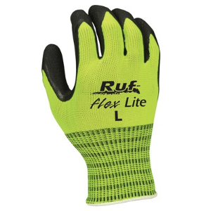 Northern Safety 15633 Gloves, Rubber Coated String Knit, Hi-Visibility, Large