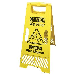 Northern Safety 178142 Wet Floor Sign, Standing, Bilingual