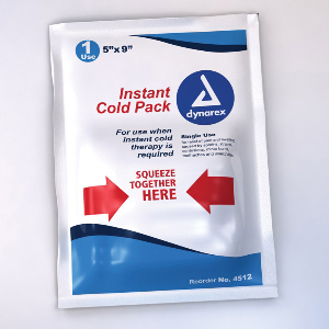 Northern Safety 100682 Instant Cold Pack, 4in x 5in, Easy Activation, Single Use