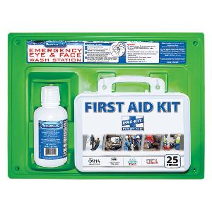 Northern Safety 7963 First Aid/Eyewash Station Combo, ANSI & OSHA Compliant